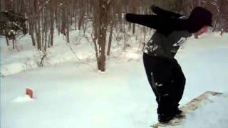 Backflip in the snow.