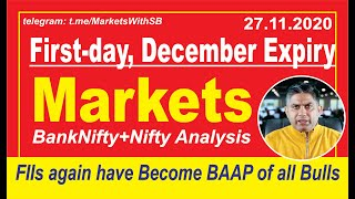 Indian Stock Market Analysis with Sushant Bakshi - How Market will behave on November 27, 2020