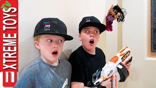 Wild Doll Returns! Sneak Attack Squad Crazy Toy Nerf Battle. Spookyfest Part 2