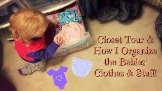 Closet Tour! How I Organize My Reborn Babies Clothes & Stuff!