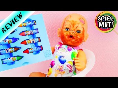 BADEN in Bilou mit Baby Born   AGUA Stifte für die BADEWANNE im Test   Puppe nimmt Schaumbad