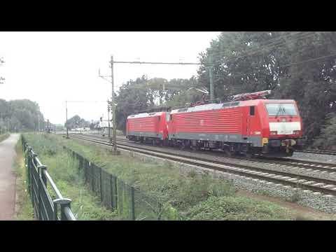 Lokken trein , 2 Serie 189 Eloks DB-Cargo te Blerick, Nederland 18.8.2019