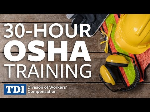30-Hour OSHA Training | Division of Workers' Compensation ...