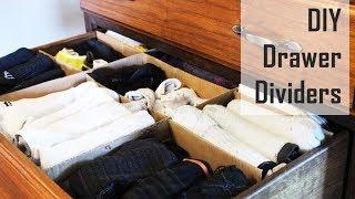 CHEAP IDEA: DIY Cardboard Drawer Dividers
