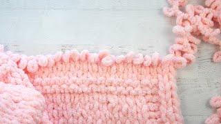 How to Make a Loop Yarn Baby Blanket