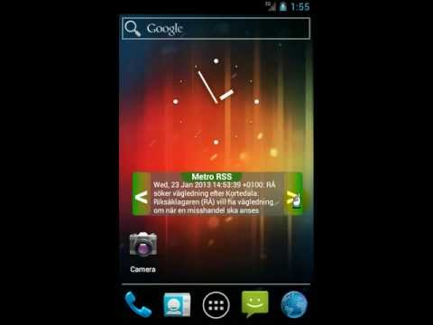 Video of Metro Nyheter Widget