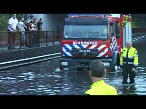 Wateroverlast in de Valuwe in Cuijk