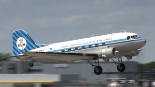 preview picture of video 'KLM Douglas DC-3 Dakota (PH-PBA) take-off and landing at Hannover (HAJ/EDDV)'