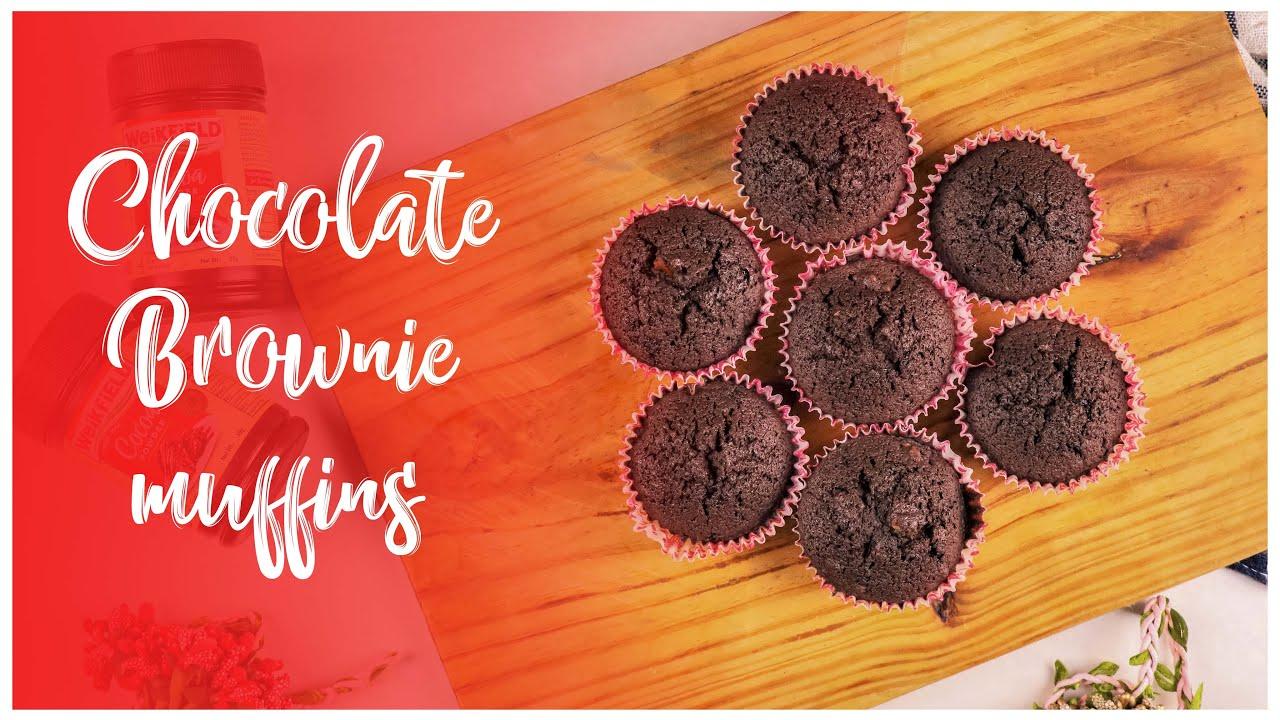 Chocolate Brownie Muffin Youtube Video