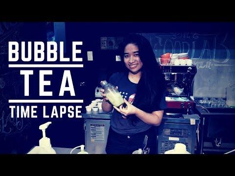 Milk tea / bubble tea training time lapse sooooo satisfying to watch ...