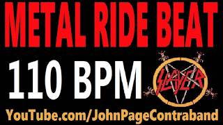 Metal Ride Beat 110 bpm Slayer Style Drums Only Track Loop