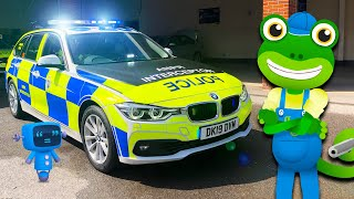 Police Car For Kids | Geckos Real Vehicles | Police Videos For Children | Educational Videos