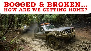 BOGGED AND BROKEN 4WDs - Does this crazy bush mechanic fix get us home? Deepest mud holes EVER