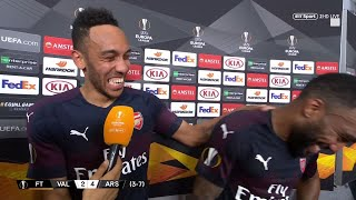 Aubameyang and Lacazette are serious friendship goals! Arsenal qualify for the final