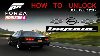 How to unlock the Chevy Impala '96 | Forza Horizon 4 December 2019 Festival Playlist / Gameplay