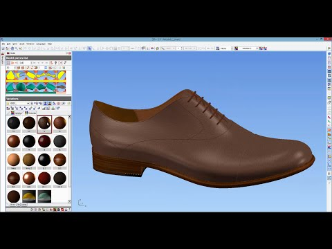 ICad3D+ Design - 3D Shoe Design software (men classic sample)