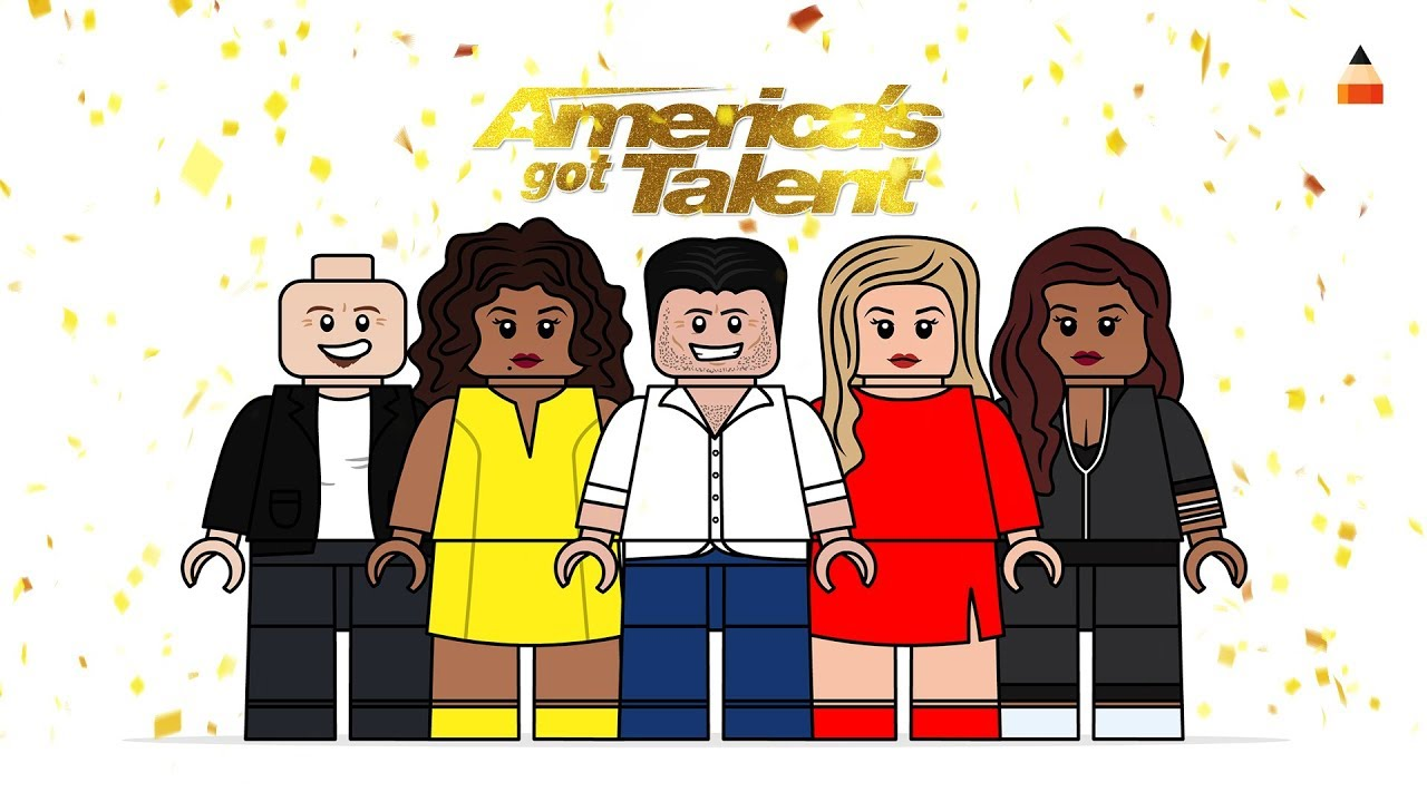Drawing Lego Famous People America S Got Talent Judges Agt 2018 Lego Coloring Pages