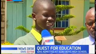 Boy shocks teachers, reports in Nyeri school at night with a paper bag and two bars of soap