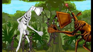 Megahorn Siren Head vs Great Mother Megaphone Trevor Henderson Animation Drawing Cartoon 2.