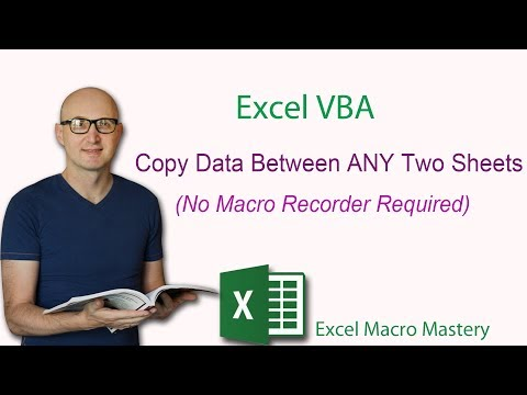 Excel VBA: Copy Data Between ANY Two Sheets