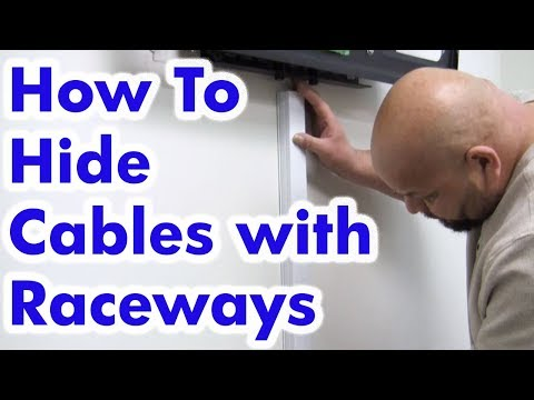 How to Hide Cables with Raceways for Wall Mounted TV's - Easy DIY