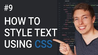 9: CSS Text Styling Tutorial   Basics of CSS   Learn HTML and CSS   HTML Tutorial