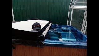 Бассейн с противотоком Family-1 (4,16*2,24*1,11) от компании Comfort SPA - бассейны и СПА бассейны, комплектация зон отдыха - видео 1