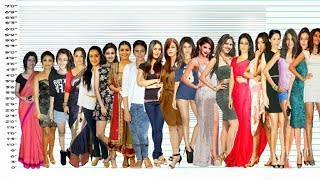 All Actresses From Bollywood Height Comparison with music - Download this Video in MP3, M4A, WEBM, MP4, 3GP
