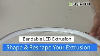 Bendable Aluminium Extrusions for LED Strip Lights
