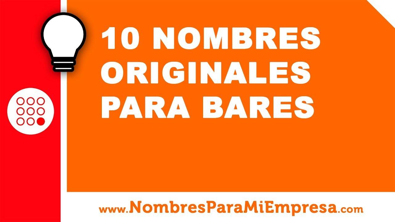 10 nombres originales para bares - nombres para empresas - www.nombresparamiempresa.com