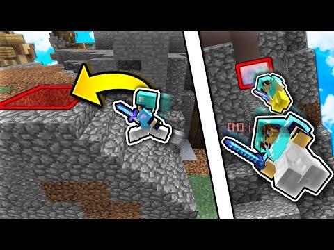 FAKE Painting FALL TRAP! (Minecraft Skywars Trolling)