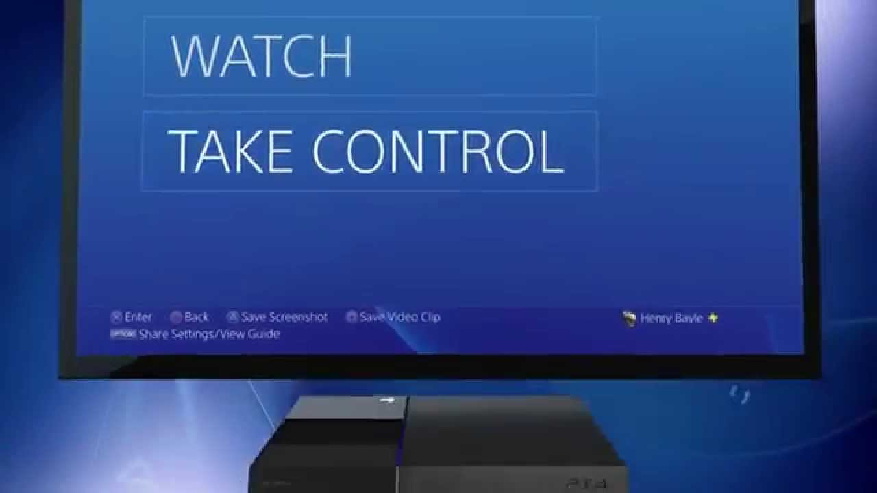PS4's Share Play feature in action – new video