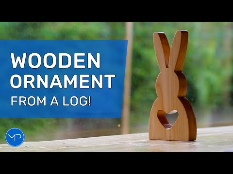, title : 'How to Carve a Wooden Bunny Ornament ~ DIY Woodworking