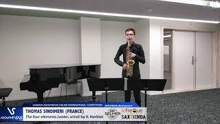 Thomas SINOIMERI plays The four Elements by V.Herbiet #adolphesax