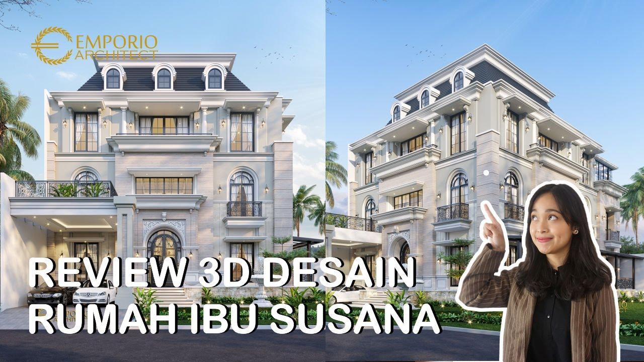 Video 3D Mrs. Susana Classic House 3 Floors Design - Tangerang, Banten