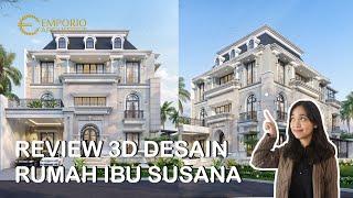 Video Desain Rumah Classic 3 Lantai Ibu Susana di  Tangerang, Banten