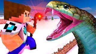 Помощь Змею! Нападение змей на сородича! Лаки блоки майнкрафт, мультик