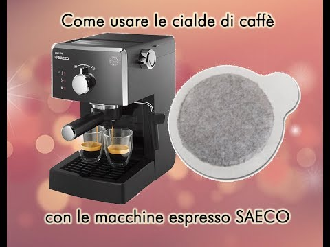 GUIDA: utilizzare le cialde ESE con le macchine SAECO e GAGGIA a braccetto (Poemia, Style)