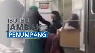 Viral Seorang Ibu Jambak dan Tampar Penumpang Lain di Gerbong KRL