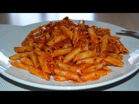 Macarrones con Chorizo | Recetas tradicionales fáciles y rápidas