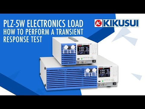 Video PLZ-5W How to Perform Transient Response Test