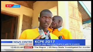 Two prisoners in Isiolo GK prison sitting for KCPE this year exude confidence in their good results