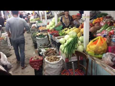 market shopping in Naryn, Kyrgyzstan