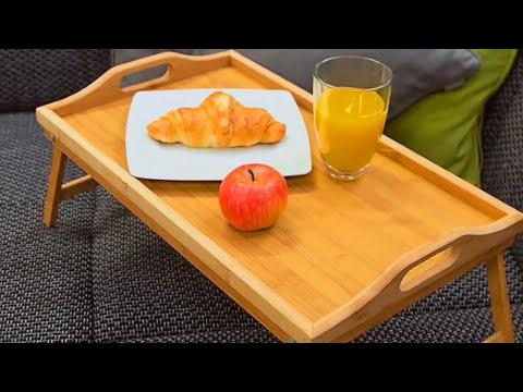 Bandeja Desayuno de Madera de Bambú Con Patas Plegables, Levivo SET540724270