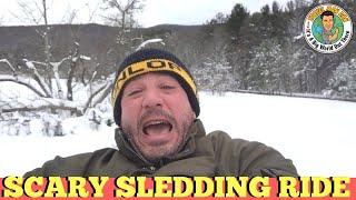 BEER CHUG SLEDDING SNOWY MOUNTAIN!!-THE TRAVEL MAN DAN SHOW-Ep1