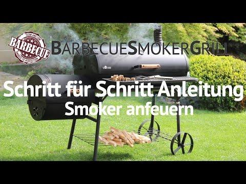 Smoker: Schritt für Schritt Anleitung - Anfeuern mit Holz & Kohle