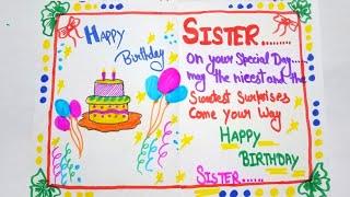 Sister Happy Birthday cards ideas / Birthday cards