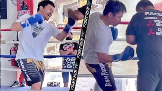 MANNY PACQUIAO EXPLOSIVE UPPERCUTS & BODY SHOTS IN TRAINING AHEAD OF ERROL SPENCE JR FIGHT