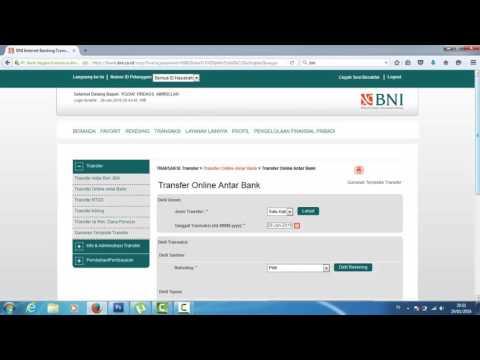 Cara Transfer Uang Menggunakan BNI Internet Banking
