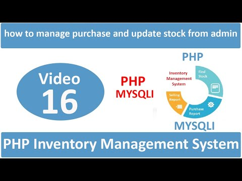 how to manage purchase and update stock from admin panel in php ims